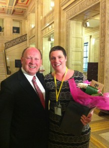 "Jim Allister MLA and Ann Travers After ""Ann's Law"" is Passed"